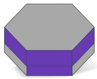 Hexagon Two Piece