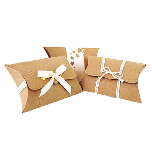 kraft pillow soap boxes