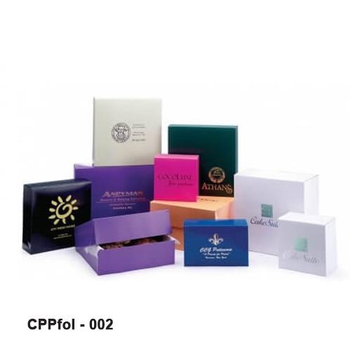 Cardboard folding boxes