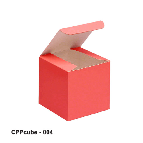 Printed cube boxes