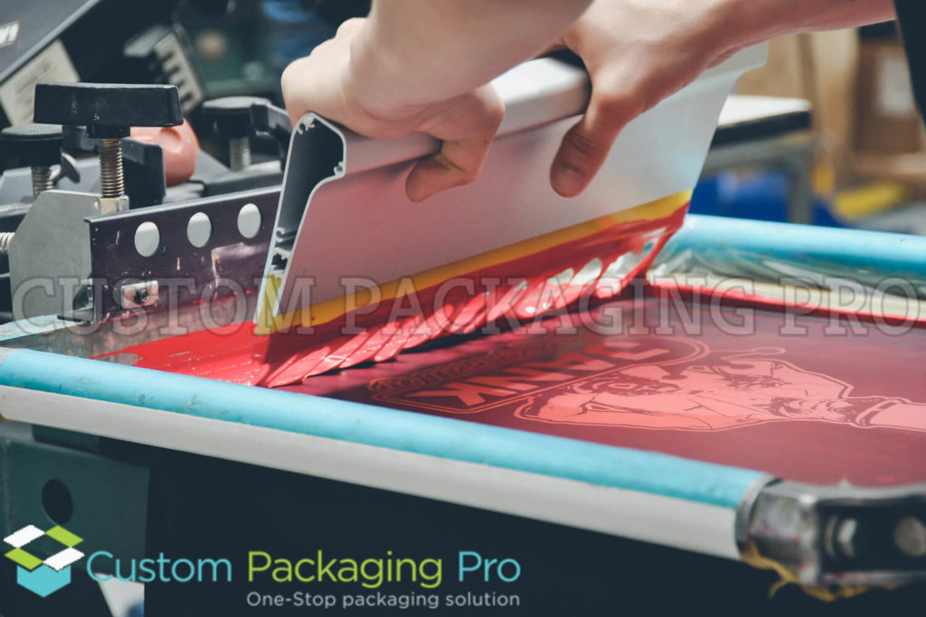 custom packaging screen printing